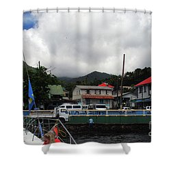 Shower Curtain featuring the photograph Small Village by Gary Wonning