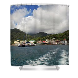 Shower Curtain featuring the photograph Smalll Village by Gary Wonning