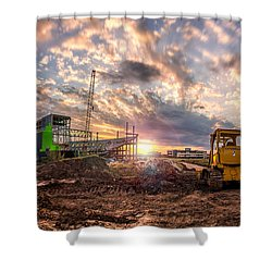 Smart Financial Centre Construction Sunset Sugar Land Texas 11 21 2015 Shower Curtain