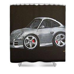 Smart Porsche Shower Curtain by Richard Le Page