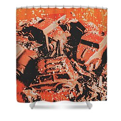 Smashem Crashem Cars Shower Curtain