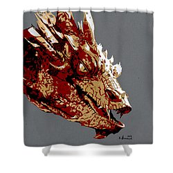 Smaug The Unassessably Wealthy Shower Curtain by Kayleigh Semeniuk