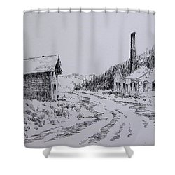 Smelter Ruins Glendale Ghost Town Montana Shower Curtain by Kevin Heaney