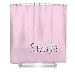 Smile Shower Curtain by Cherie Duran
