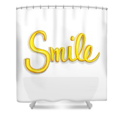 Shower Curtain featuring the drawing Smile by Cindy Garber Iverson