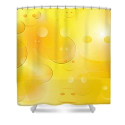 Smile Shower Curtain by Denise Fulmer