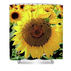 Shower Curtain featuring the photograph Smile by Greg Fortier