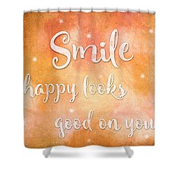Smile Shower Curtain by Guy Dicarlo