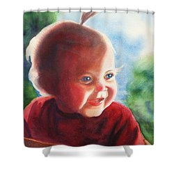 Smile Shower Curtain by Marilyn Jacobson