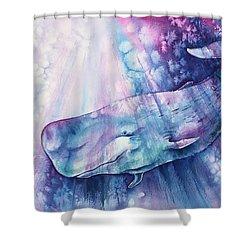 Shower Curtain featuring the painting Smile Of Cachalot by Zaira Dzhaubaeva