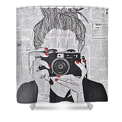Smile Twice Shower Curtain