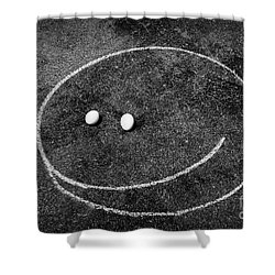Shower Curtain featuring the photograph Smiley - Chalk N Eggs by Aimelle