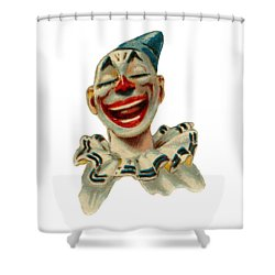 Shower Curtain featuring the digital art Smiley by ReInVintaged