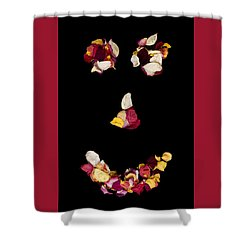 Smiley Rose Shower Curtain