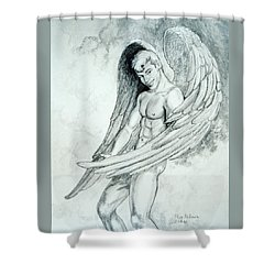 Smiling Angel Shower Curtain