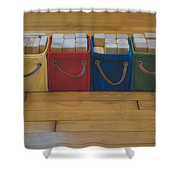 Smiling Block Bins Shower Curtain by Scott Norris