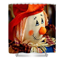Smiling Face 2 Shower Curtain by Julie Palencia