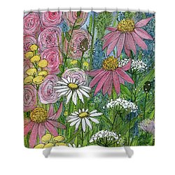 Smiling Flowers Shower Curtain