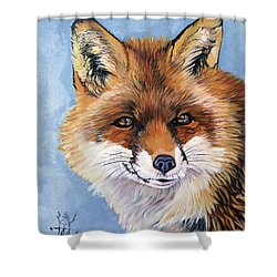 Smiling Fox Shower Curtain