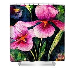 Smiling Iris Faces  Shower Curtain