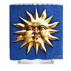 Smiling Sunshine Shower Curtain by Meirion Matthias