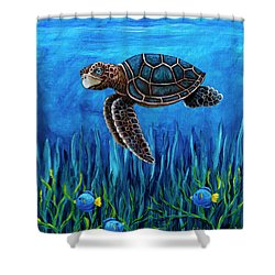 Smirking Turtle Shower Curtain
