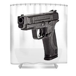 Smith And Wesson Handgun Shower Curtain