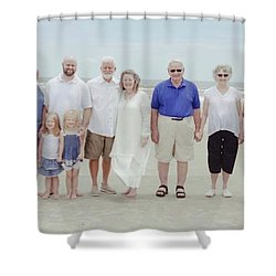 Smith Family At The Beach Shower Curtain