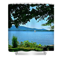 Smith Mountain Lake Sailor Shower Curtain by The American Shutterbug Society
