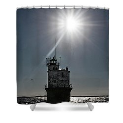 Smith Point Lighthouse Shower Curtain