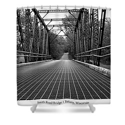 Shower Curtain featuring the photograph Smith Road Bridge  by Viviana  Nadowski