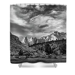 Smith Rock Bw Shower Curtain