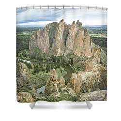 Smith Rock From Misery Ridge Shower Curtain