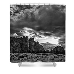 Smith Rock Fury Shower Curtain
