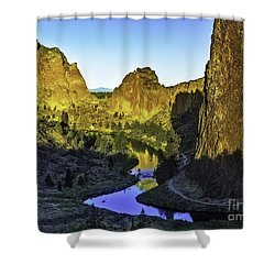 Smith Rock, Oregon Shower Curtain