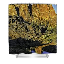 Smith Rock Reflections-1 Shower Curtain