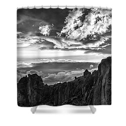 Smith Rock Skies Shower Curtain
