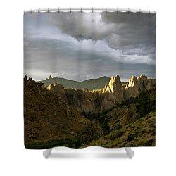 Smith Rock Sky Shower Curtain
