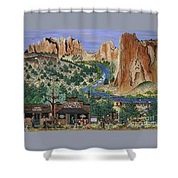 Smith Rock State Park Shower Curtain