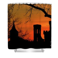 Smithsonian Castle Shower Curtain by Luv Photography