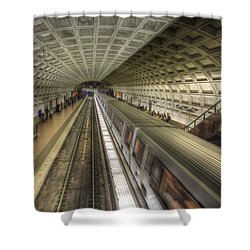 Smithsonian Metro Station Shower Curtain by Shelley Neff