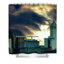 Smithtower Moon Shower Curtain