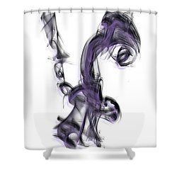 Smoke 01 Purple Shower Curtain