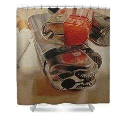 Shower Curtain featuring the painting Smoke Break by Cherise Foster