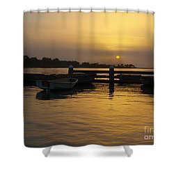Smoke In The Sky Shower Curtain by Trena Mara