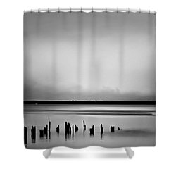 Smoke On The Water Shower Curtain by Wallaroo Images
