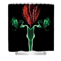 Smoke Thistle Shower Curtain