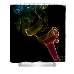 Shower Curtain featuring the photograph smoke XVI by Joerg Lingnau