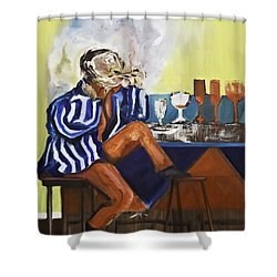 Smoker Shower Curtain