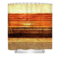 Smoker's Bench Shower Curtain